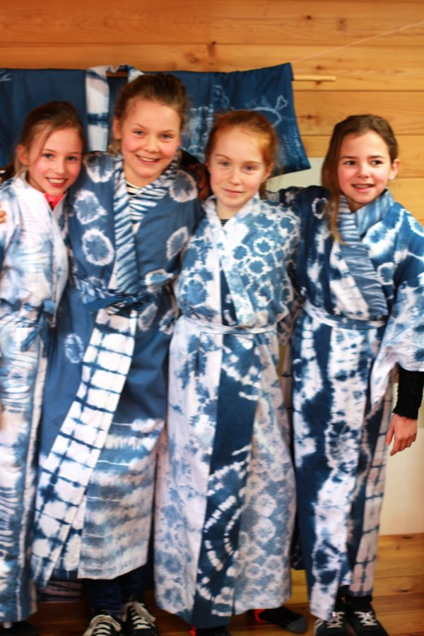 Kimono met shibori